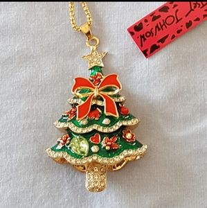 Betsey Johnson Necklace Christmas Tree Pendant